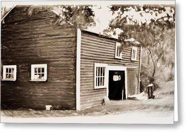 Barn In The Woods Greeting Card