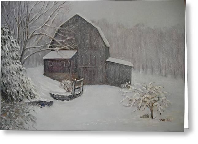 Barn In Up State New York Greeting Card