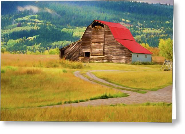 Barn In Victor Idaho Greeting Card
