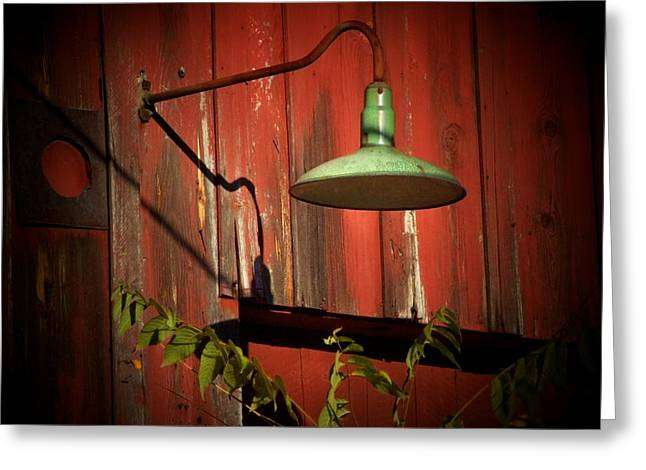 Barn Light Greeting Card