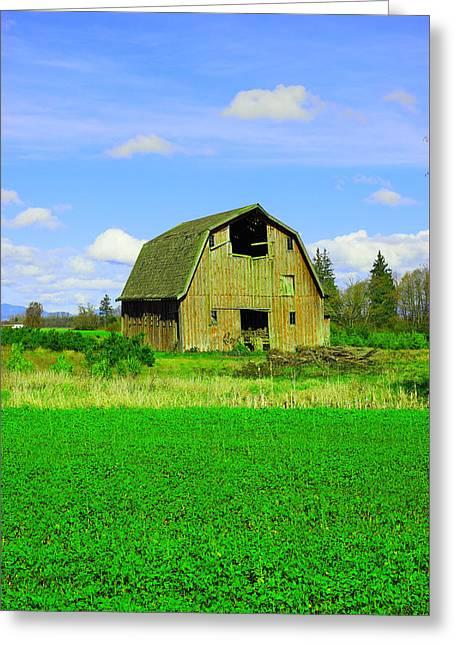 Barn Near Mt Vernon Washngton Greeting Card by Jeff Swan