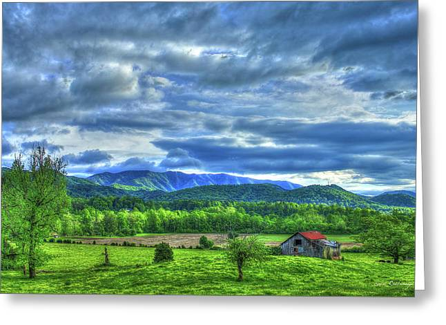 Barn On A Hill Great Smoky Mountains Greeting Card by Reid Callaway