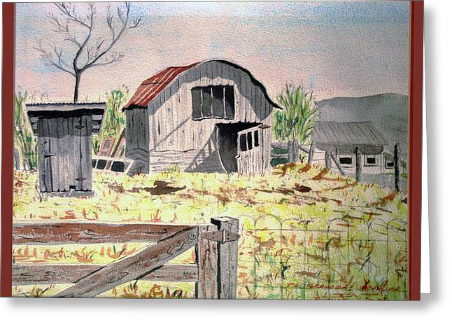 Barn On Fisk Rd Greeting Card