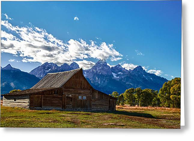 Barn On Mormon Row Greeting Card