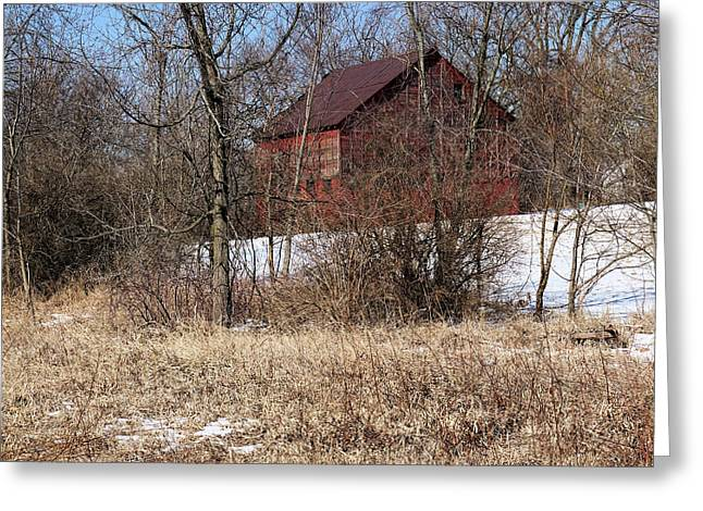 Barn On The Edge Of Town Greeting Card by Scott Kingery