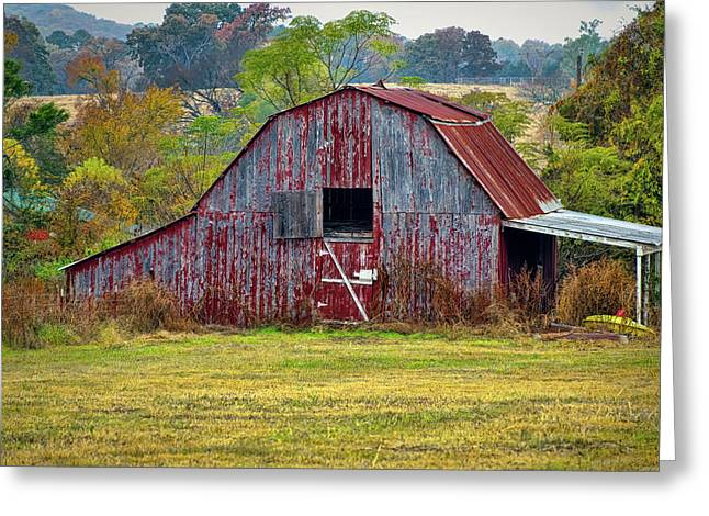 Barn On White Oak Road 2 Greeting Card