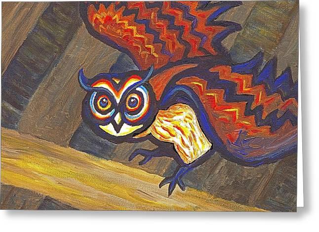 Barn Owl 801 Greeting Card by Linda Mears