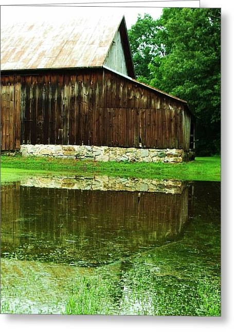 Barn Reflection I Greeting Card