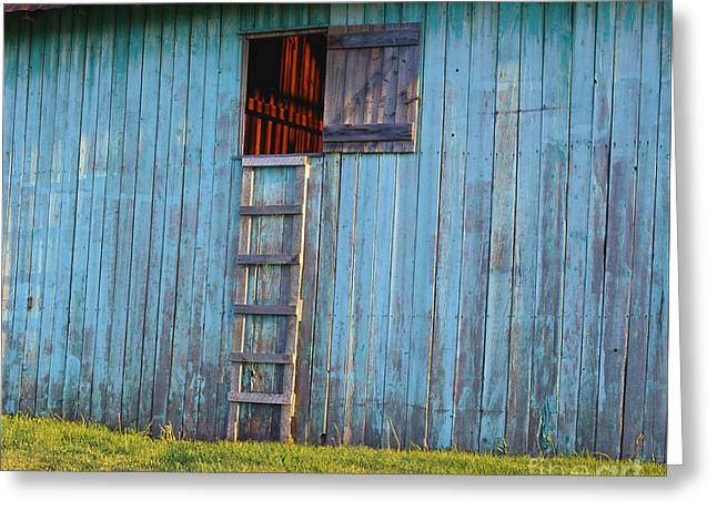 Barn Shadows. Vermont Greeting Card