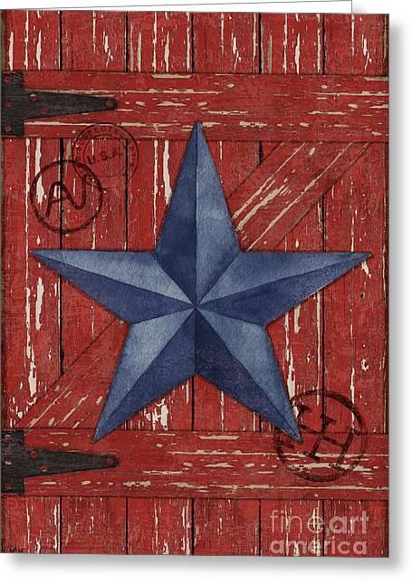 Barn Star - Vertical Greeting Card