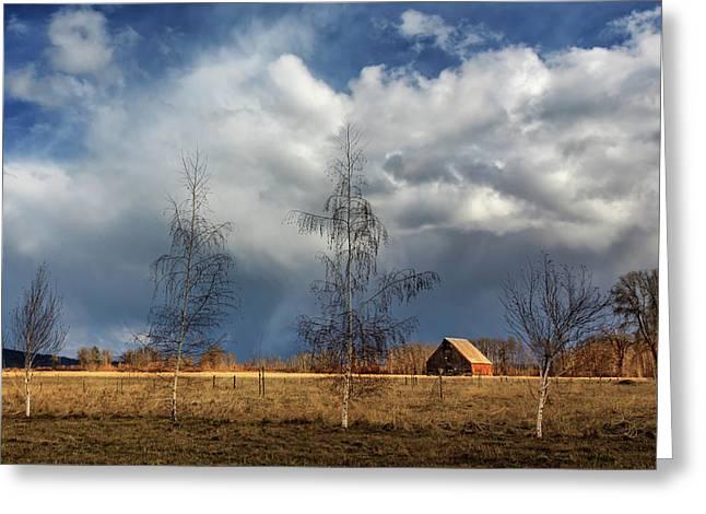 Greeting Card featuring the photograph Barn Storm by James Eddy