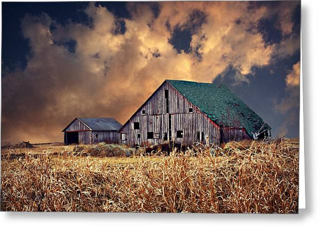 Barn Surrounded With Beauty Greeting Card