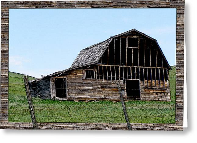 Greeting Card featuring the photograph Barn by Susan Kinney