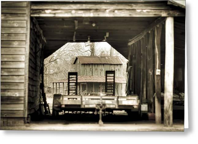 Barn Through A Barn Greeting Card