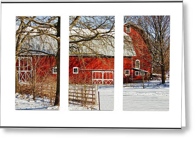 Barn Triptych Greeting Card