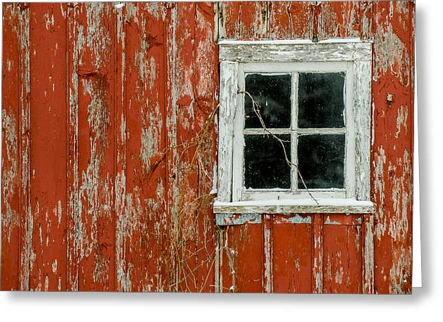 Barn Window Greeting Card by Dan Traun