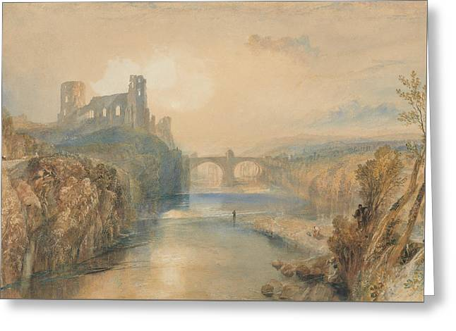 Barnard Castle Greeting Card by Joseph Mallord William Turner