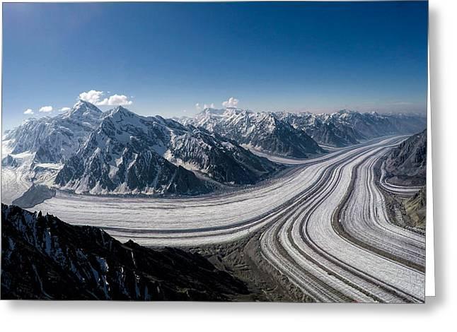 Barnard Glacier Alaska Greeting Card
