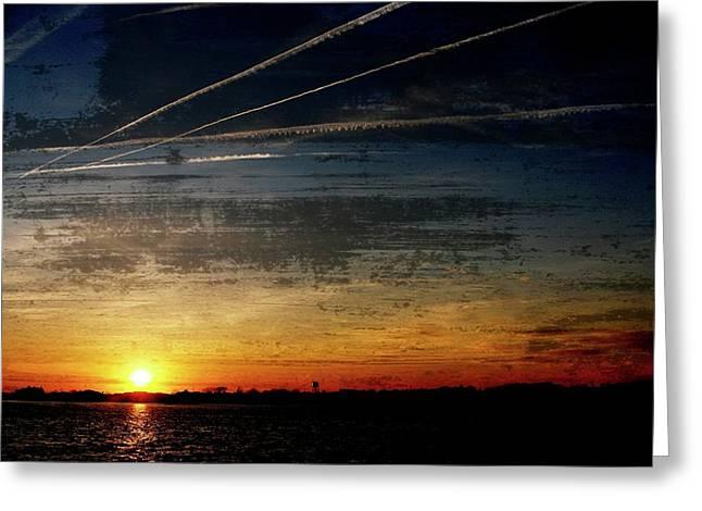 Barnegat Bay Sunset 1 - Jersey Shore Greeting Card