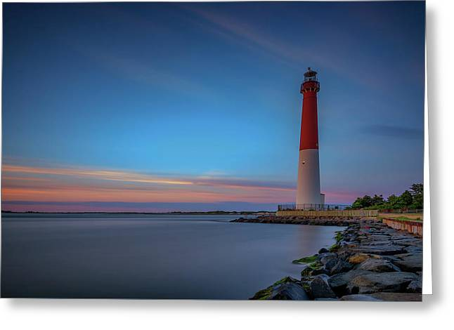Dune Grass Greeting Cards - Barnegat Inlet Greeting Card by Rick Berk