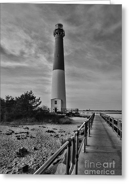 Barnegat Light House In Black And White Greeting Card