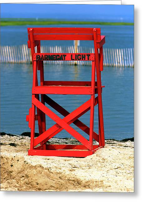 Barnegat Light Lifeguard Chair Greeting Card