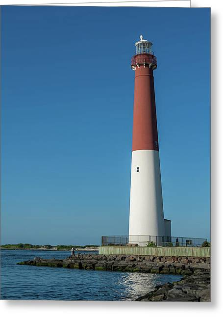 Barnegat Lighthouse And Inlet New Jersey Greeting Card