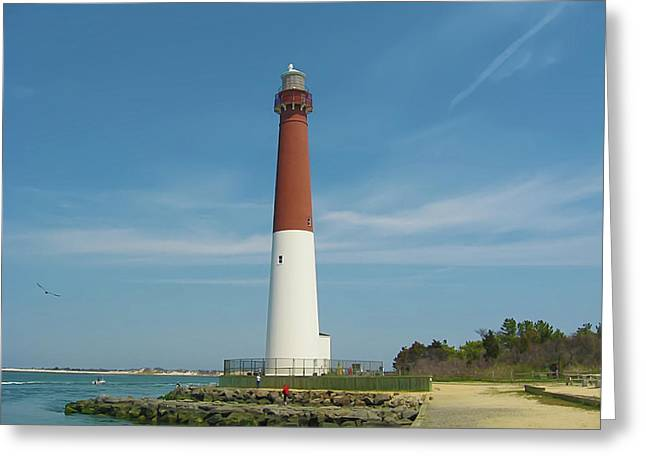Barnegat Lighthouse Greeting Card by Bill Cannon