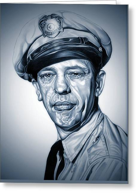 Barney Fife Greeting Card by Fred Larucci