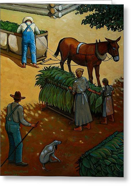 Barnin Tobacco Greeting Card by Doug Strickland
