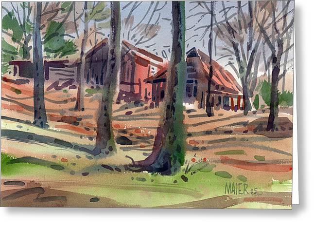 Barns And Sheds Greeting Card by Donald Maier