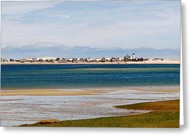 Barnstable Harbor Panorama Greeting Card by Charles Harden