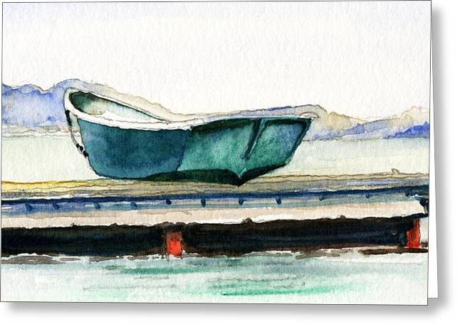 Barnstable Skiff Greeting Card