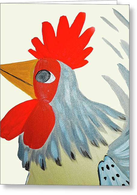 Barnyard King Greeting Card