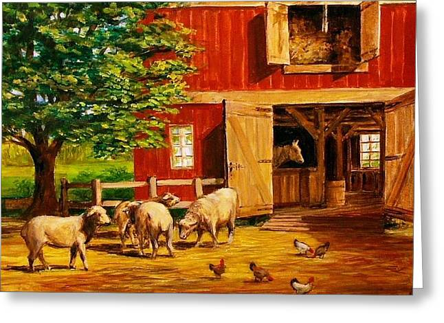 Barnyard  Greeting Card