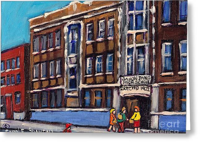 Baron Byng High School Rue St Urbain Montreal Memories Class Of 65 Canadian Art Carole Spandau       Greeting Card
