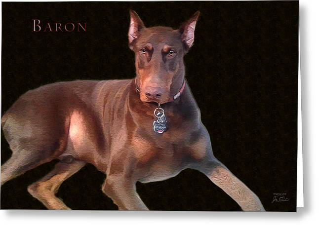Baron Greeting Card