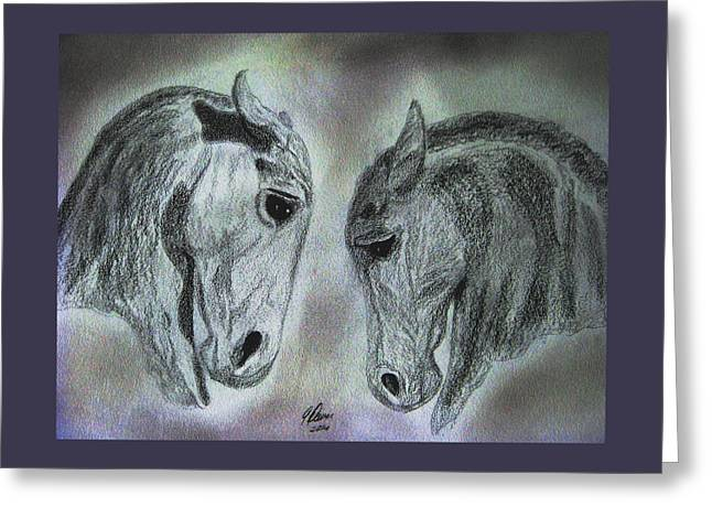 Baroque Duet Greeting Card by Angela Davies