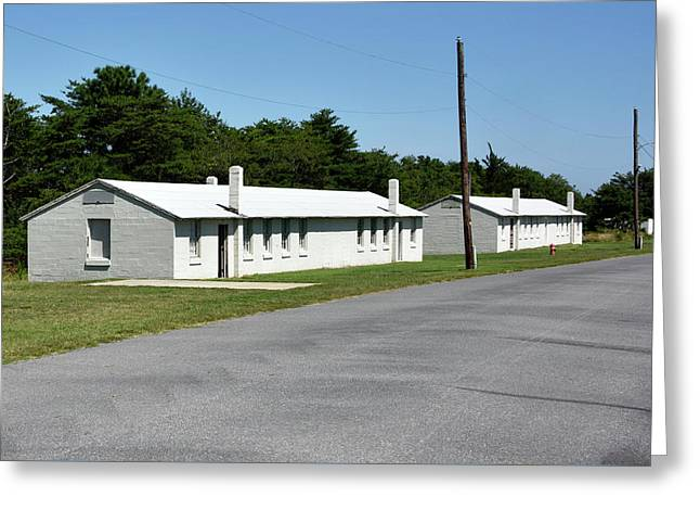 Greeting Card featuring the photograph Barracks At Fort Miles - Cape Henlopen State Park by Brendan Reals
