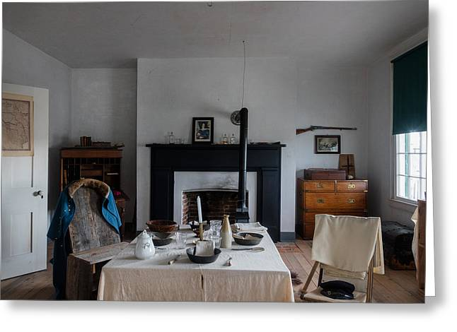 Greeting Card featuring the photograph Barracks Interior At Fort Laramie National Historic Site In Goshen County by Carol M Highsmith