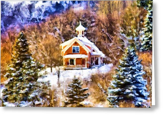 Barre House Greeting Card by Jim Proctor