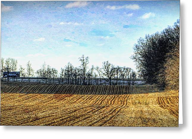Barren Fields In Champaign County Greeting Card