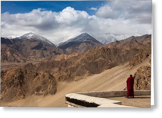 Barren Himalayas Greeting Card