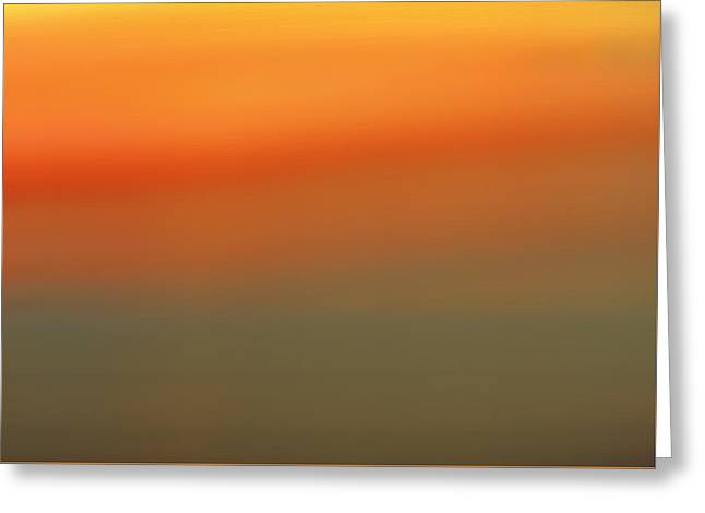 Barren Sunset Greeting Card by Dan Sproul