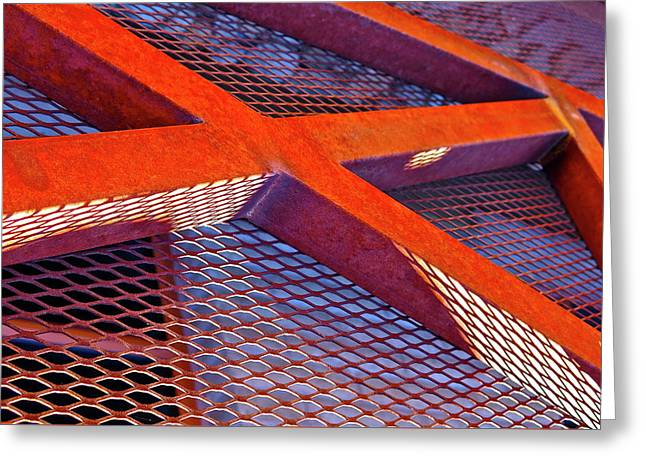 Barrier Abstract Greeting Card