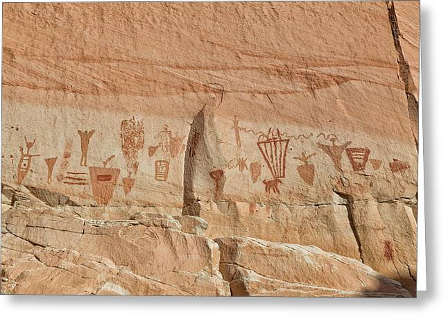 Incised Greeting Cards - Barrier Canyon Panel Greeting Card by Kathleen Bishop