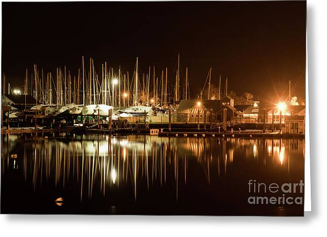 Barrington Harbor Lights Greeting Card
