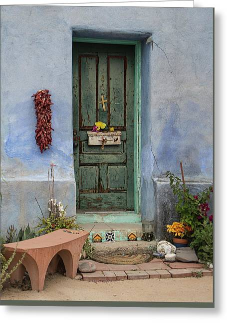 Barrio Door Greeting Card