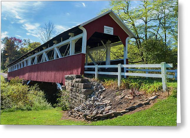 Greeting Card featuring the photograph Barronvale Bridge  by Cindy Lark Hartman