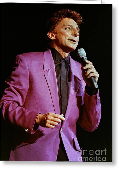 Barry Manilow Greeting Cards Fine Art America